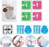 Metalen sticker geschikt voor Airpods - Accessoire voor Airpods - Anti magnetisch stof - Vuil bescherming - Zilver set van 2 stuks