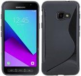 Samsung Galaxy Xcover 4 - S-line Zwart TPU siliconen case telefoonhoesje