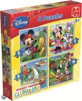 Jumbo Disney Mickey Mouse Clubhouse - 4in1 Puzzel - 4,6,9 en 16 stukjes