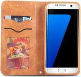 Samsung Galaxy S7 Retro Portemonnee Hoesje Bruin