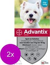 Advantix Spot On 100 1 ml - Anti vlooien en tekenmiddel - 2 x 4 pip 4-10 Kg