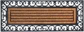 Rubber en kokos deurmat rechth 120 x 45 cm