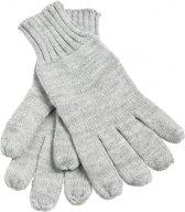 Gebreide handschoenen S/m Licht grijs