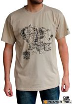 Merchandising LORD OF THE RING - T-Shirt Map Men Sand (XL)