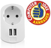 2 Poorts USB Lader 3.1A met stopcontactr