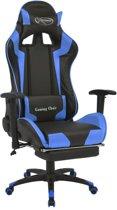 vidaXL Bureau-/gamestoel verstelbaar met voetsteun Xtreme blauw