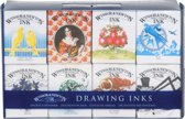 Winsor & Newton Drawing Ink Set 8 x 14ml Henry Collection