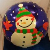 Folieballon sneeuwpop 45cm
