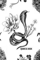 Address Book: Black & White - Phone & contact book -All contacts at a glance - 120 pages in alphabetical order / size 6x9 (A5)