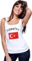 Turkije mouwloos shirt wit dames M