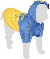 Karlie Regenjas Tex 2 in 1 - Blauw/geel - Ruglengte 44 cm
