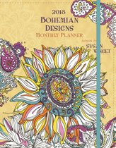 Bohemian Designs 2018 Coloring Monthly Planner
