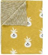 Fresk Gebreide deken, pineapple mustard, 100*150