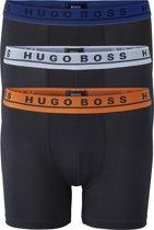 Hugo Boss boxer brief (3-pack) - zwarte boxer met gekleurde tailleband -  Maat M