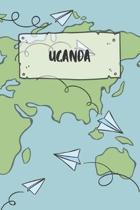 Uganda: Ruled Travel Diary Notebook or Journey Journal - Lined Trip Pocketbook for Men and Women with Lines