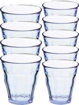 Drinkglazen/waterglazen Picardie set blauw 220/310 ml - 12-delig - koffie/thee glazen