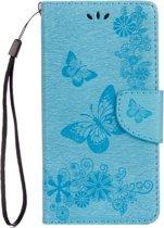 Mobigear Vlinder Bookcase Hoesje Turquoise Motorola Moto G5 Plus