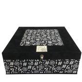 The Box For Tea Symbolen Theedoos - 9 vakken - Zwart