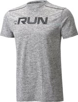 Under Armour Run Front Graphic SS Tee 1316844-001, Mannen, Grijs, T-shirt maat: M EU