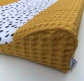 Ini & Mini - Aankleedkussenhoes ' Confetti - Oker ' -  Bebe Jou (44x72x9)
