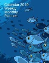 Calendar 2019 Weekly Monthly Planner