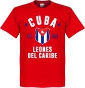 Cuba Established T-Shirt - Rood - XXL