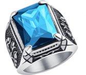 Zilver Ring Steen Proud Collections - Heren Ring