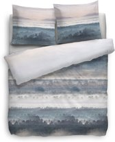 Heckett Lane Katarina Dekbedovertrek - Eenpersoons - 140x200 + 60x80 cm - Blauw