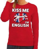 Kiss me I am English sweater rood dames M