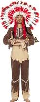 Indiaan Kostuum | Indiaan Nipissing | Man | Maat 52 | Carnaval kostuum | Verkleedkleding