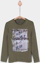 Tiffosi-jongens-shirt, longsleeve-Neptuno-kleur: groen-maat 164