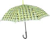 Perletti Paraplu Bloemen Automatisch 102 Cm Geel