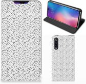 Xiaomi Mi 9 Hoesje met Magneet Stripes Dots