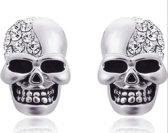 Skull- oorbellen- strass -steentjes
