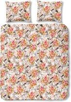 Lazy day Dekbedovertrek Dekbedovertrek voor volwassenen - lits jumeaux - 240 x 220 Romy bloemen - 4136-A, t