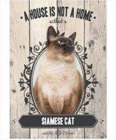 Wandbord - Siamese Cat -14x20cm-