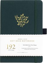 Archer & Olive Notitieboek A5 Dotted - Deep Green (192 pagina's)