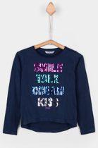 Tiffosi-meisjes-shirt, longsleeve-Maya-kleur: blauw-pailletten-maat 104