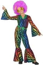 Disco/seventies verkleed kostuum voor dames - carnavalskleding - voordelig geprijsd 128 (7-9 jaar)
