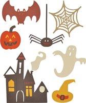Sizzix snijmal, afm 3-7 cm, Spooky Halloween, 1stuk