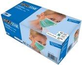 Mondmasker (medisch) 3-laags groen 50 stuks met oorelastiek