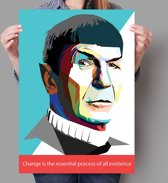 Poster WPAP Pop Art Spock - Star Trek