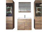 Badplaats Badkamermeubel Rio XL 60cm Lefkas - Badmeubel met spiegel en twee zijkasten