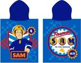 Fireman Sam Workshop  - Poncho - 50 x 115 cm - Blauw