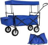 TecTake - Bolderkar transportkar bolderwagen blauw + draagtas - 402316