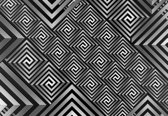Fotobehang Modern Abstract Pattern | L - 152.5cm x 104cm | 130g/m2 Vlies