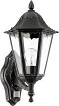 EGLO Navedo - Buitenverlichting - Wandlamp Met Sensor - 1 Lichts - Zwart, Patina