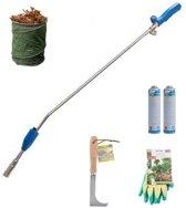 CFH Onkruidbrander voordeelset | CFH PZ9000 onkruidbrander + 2 gasflessen + voegenkrabber + tuinhandschoenen + tuinafvalzak