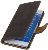 Wicked Narwal | Bark bookstyle / book case/ wallet case Hoes voor sony Xperia Z4 Z3+ Grijs