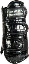 Peesbeschermers premium -Croco- zwart S